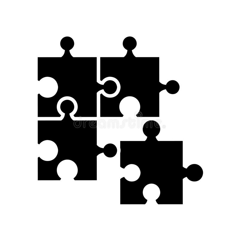 lokalisiertes Ikonendesign des Puzzlespiels Stücke vektor abbildung