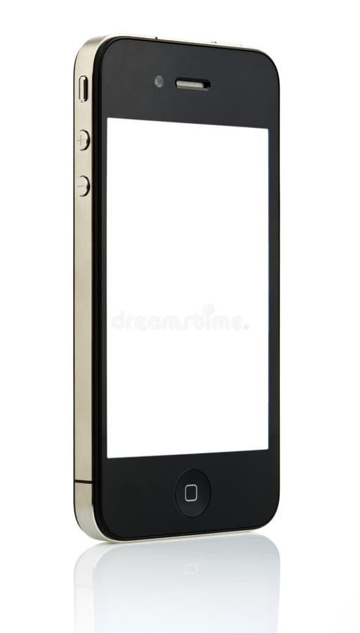 Lokalisiertes iPhone 4 - weißes Copyspace stockfotografie