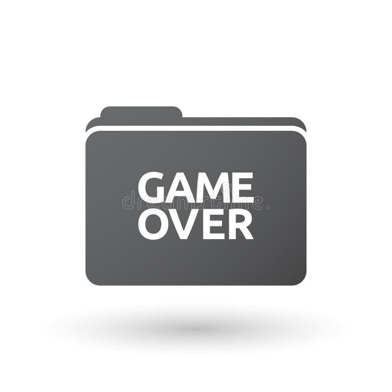 Lokalisiertes Ordnersignal mit dem Text Spiel vorbei stock abbildung