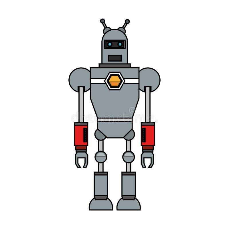 Lokalisiertes Roboterkarikaturdesign stock abbildung