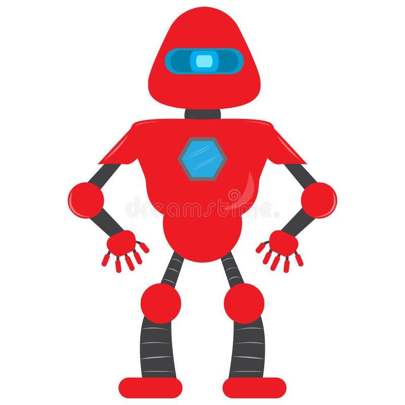 Lokalisiertes Roboterspielzeug - Vektor vektor abbildung