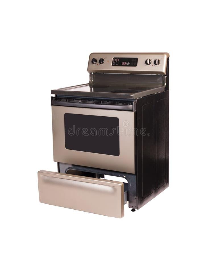 Lokalisiertes vitrokeramisches Ofen-Fach offen lizenzfreie stockfotos