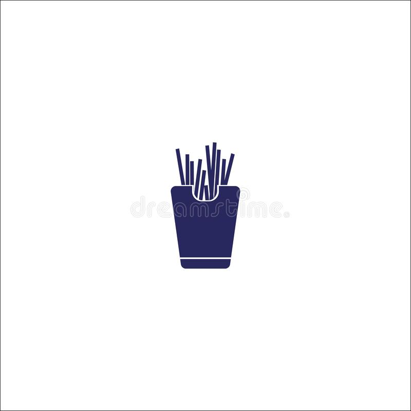 Lokalisiertes Zeichensymbol des Fastfoods Ikone lizenzfreie abbildung