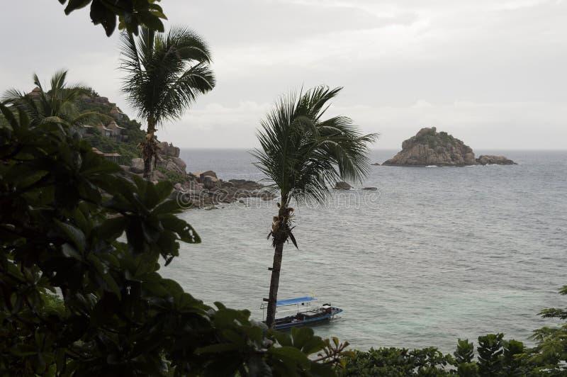 Lokalizuje południe wyspa Koh Tao mały podpalany nam zdjęcie royalty free
