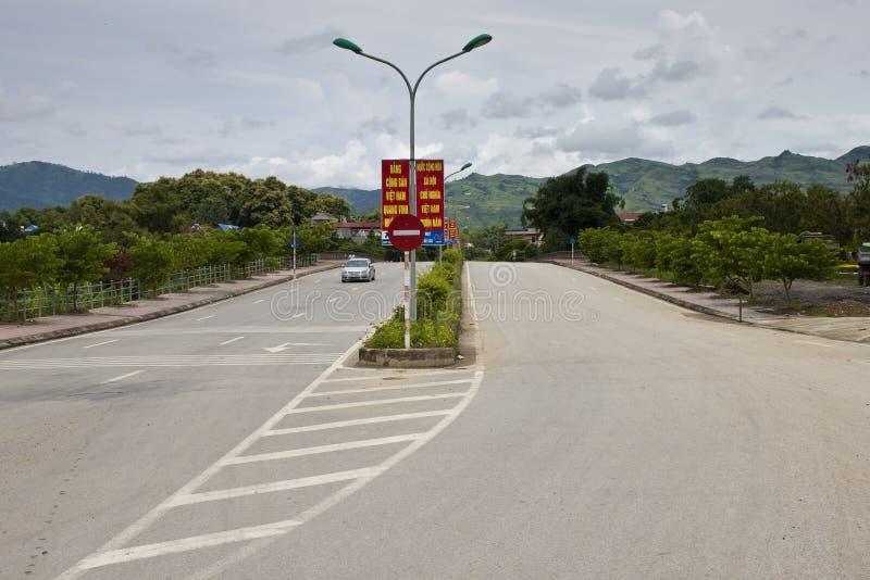 Lokalna autostrada w Dien Bien Phu zdjęcie stock