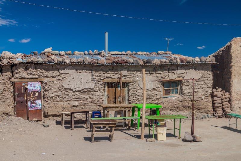 Lokalna knajpa w małej wiosce Julaca obraz stock