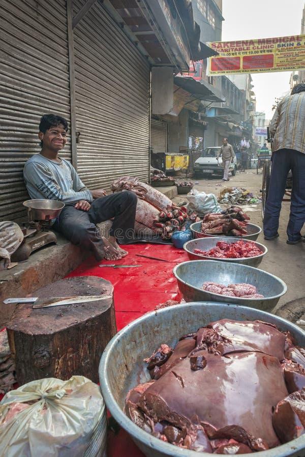 Lokalna masarka w Delhi, India obraz stock