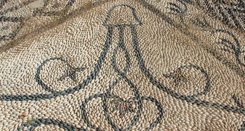 Lokalna sztuka Na Kościelnym patiu W Symi Grecja obrazy royalty free