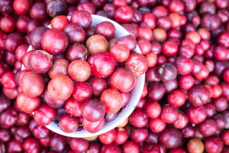 Lokalna Tajlandzka lasowa jagodowa owoc w Chiang Mai rynku zdjęcia stock
