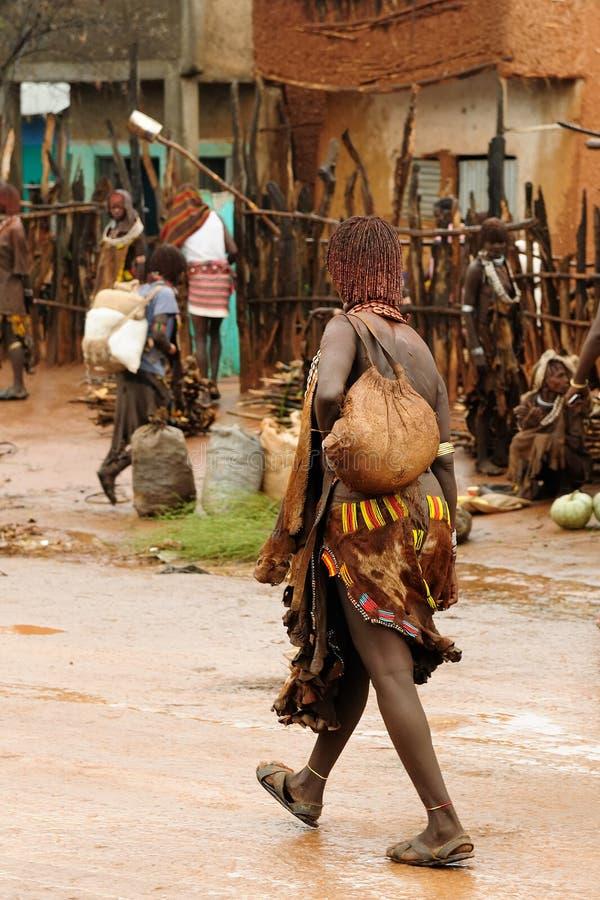 Lokalni ludzie od Omo doliny, Etiopia obraz stock