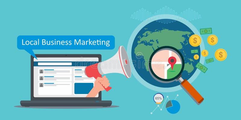 Lokalny biznesowy marketing ilustracji