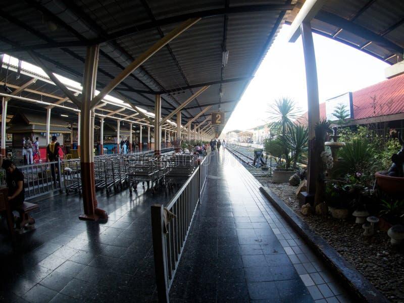 Lokalny dworzec w Chiangmai, Tajlandia fotografia stock