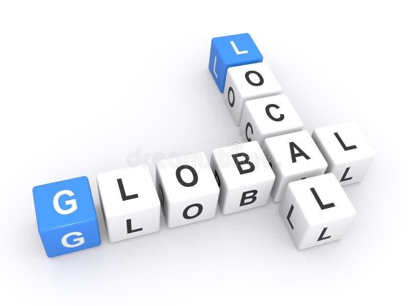 Lokalny globalny znak royalty ilustracja