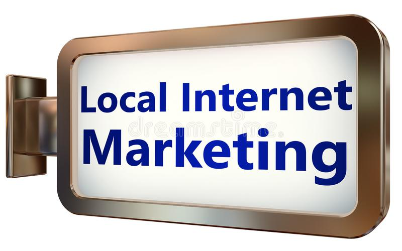 Lokalny Internetowy marketing na billboardu tle royalty ilustracja
