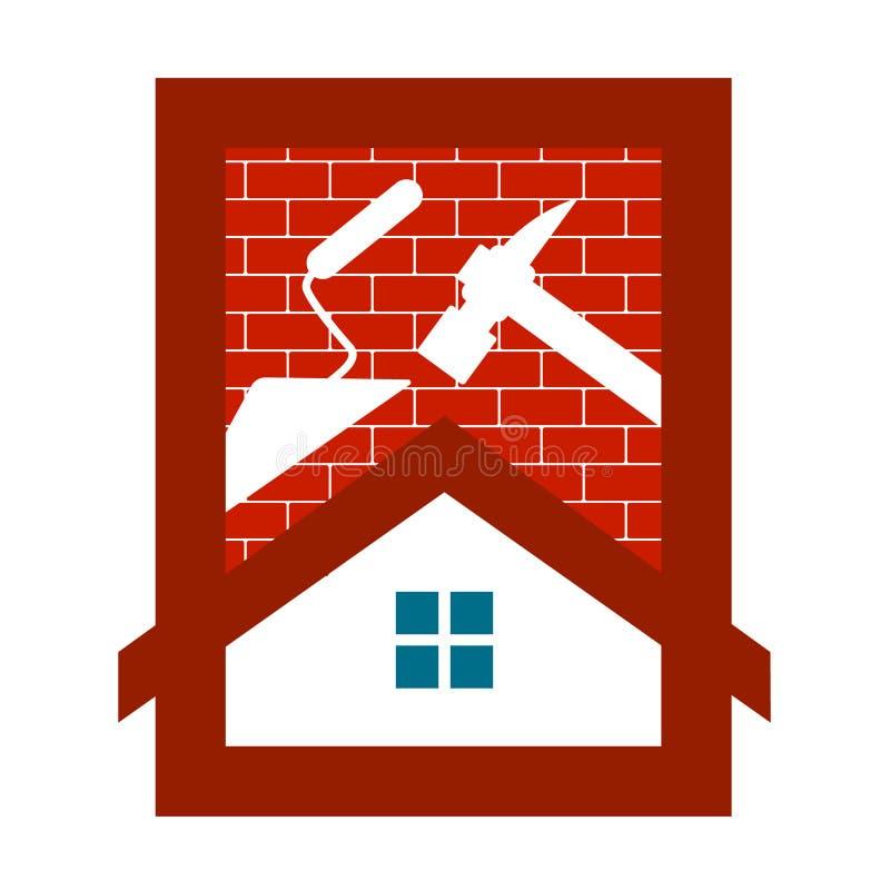Lokalowej budowy symbol dla biznesu zdjęcia royalty free