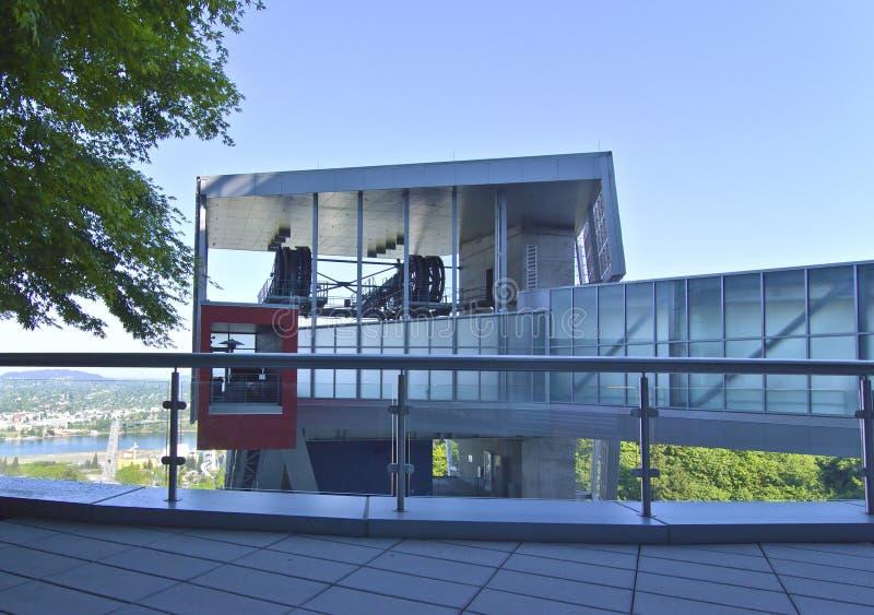 Lokalowy budynek dla Powietrznego tramwaju. obrazy stock