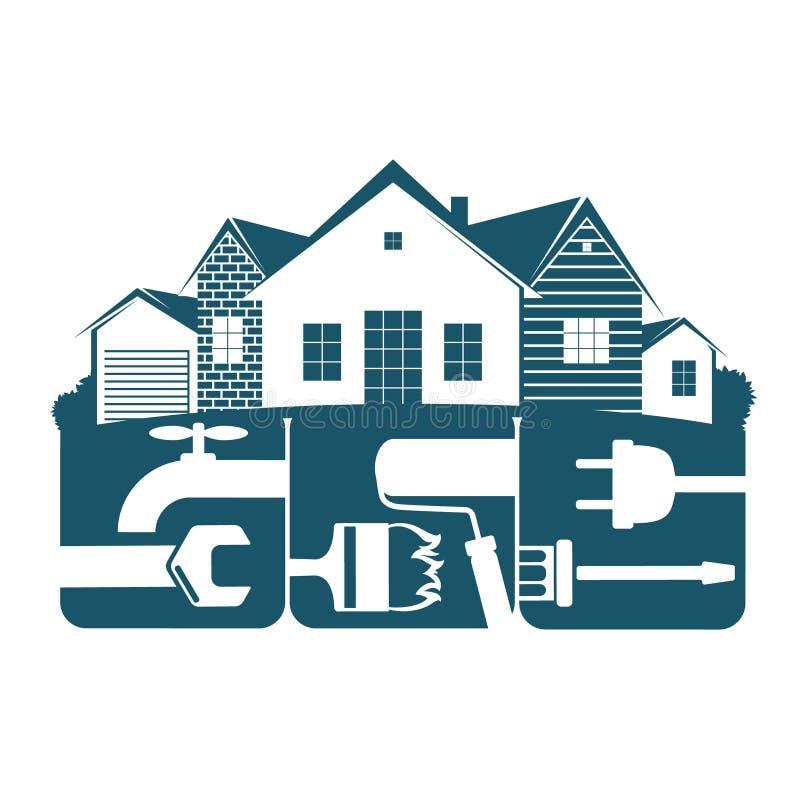 Lokalowy remontowy symbol dla biznesu ilustracji
