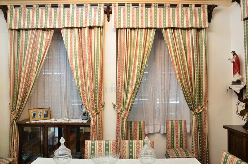 Lokalowy układu pokaz wśrodku Taipa Mieści muzeum w Macau obrazy royalty free