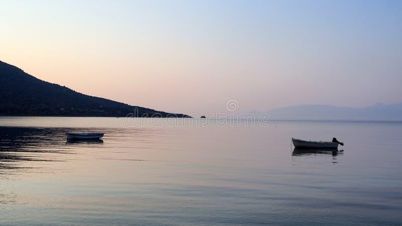 Lokalt fiske, golf av Corinth royaltyfria bilder