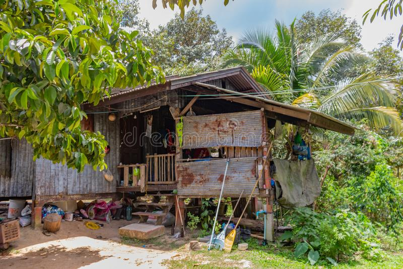 Lokalt hus Koh Samui Thailand arkivfoton