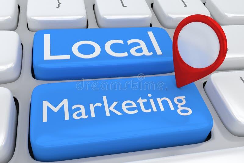 Lokalt marknadsföringsbegrepp royaltyfri illustrationer
