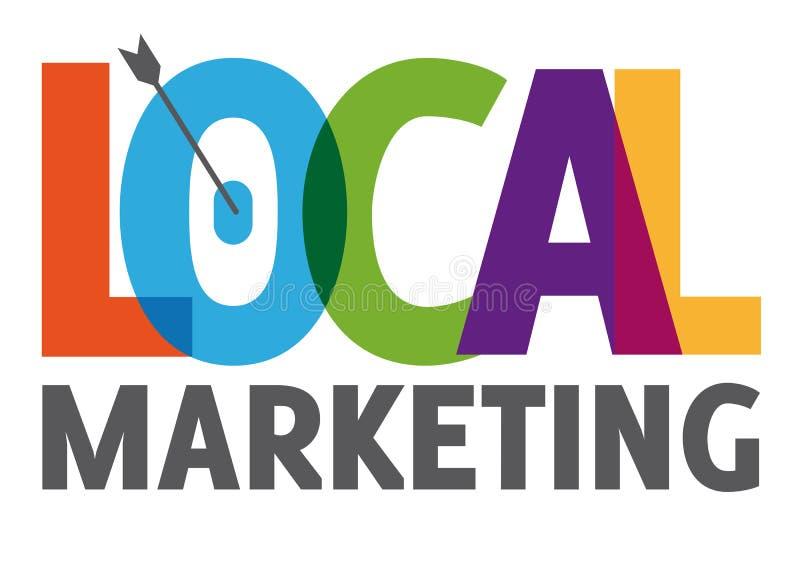 Lokalt marknadsföringsbegrepp stock illustrationer