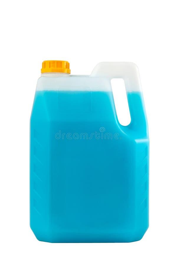 Lokalvårdprodukter Isolerad renande plast- flaska arkivfoton
