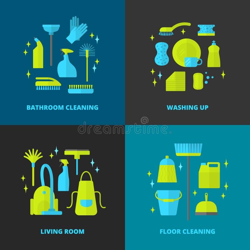Lokalvårdsymboler vektor illustrationer
