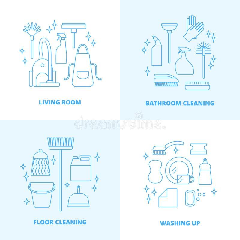 Lokalvårdsymboler stock illustrationer