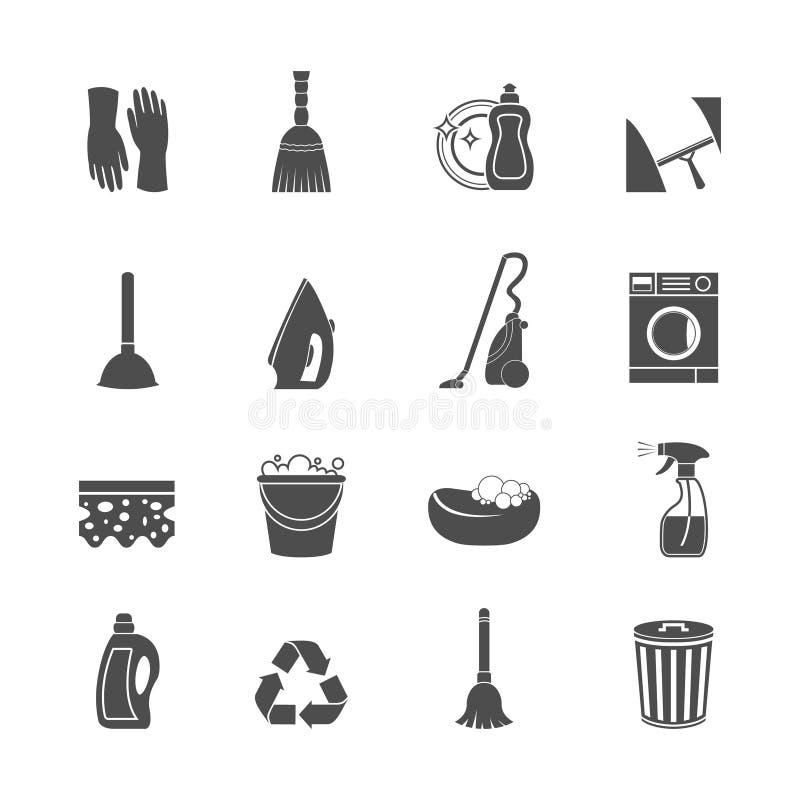 Lokalvårdsymbolsuppsättning stock illustrationer