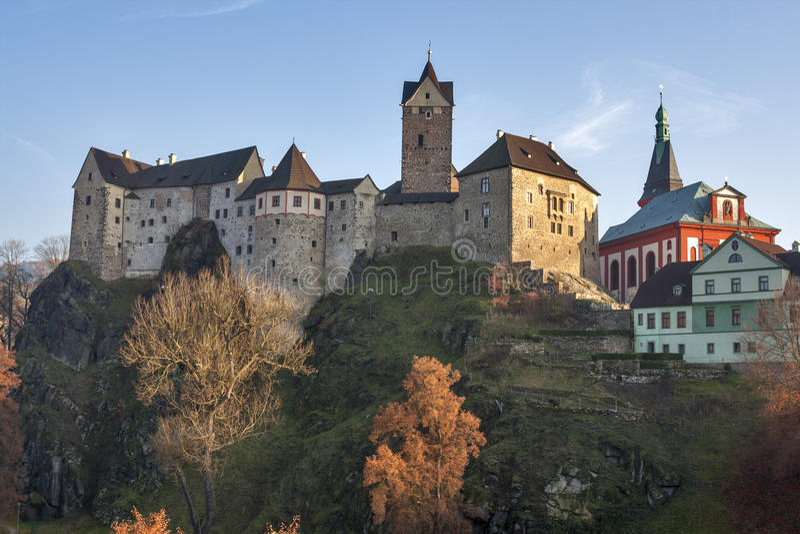 Loket castle, Czech republic royalty free stock images
