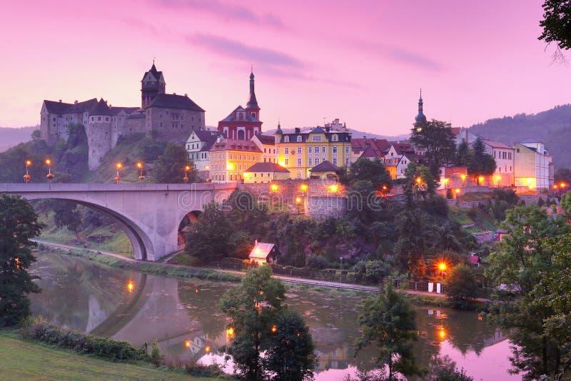 Loket stad i Tjeckien royaltyfri fotografi