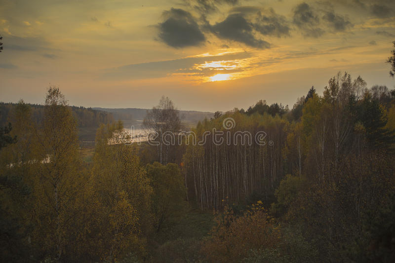 Loki de los Daugavas de la reserva de naturaleza en el Daugava del río en Letonia imágenes de archivo libres de regalías