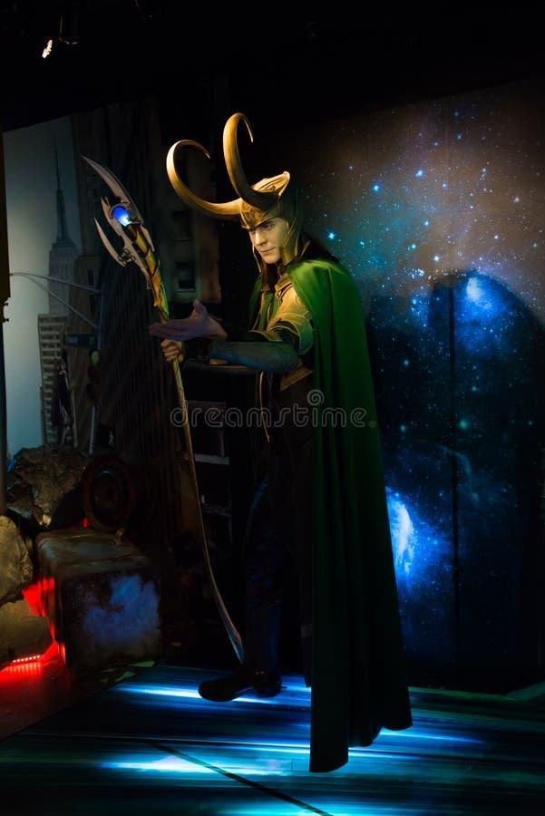 Loki en el museo de señora Tussauds imágenes de archivo libres de regalías