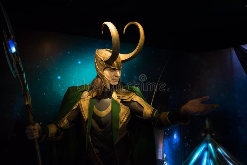 Loki en el museo de señora Tussauds foto de archivo