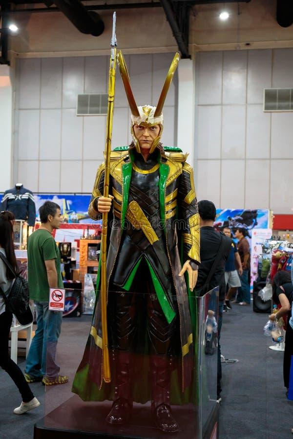 Loki, eroi eccellenti di meraviglia corrisponde a promuove il film a Bangkok, Tailandia fotografia stock libera da diritti