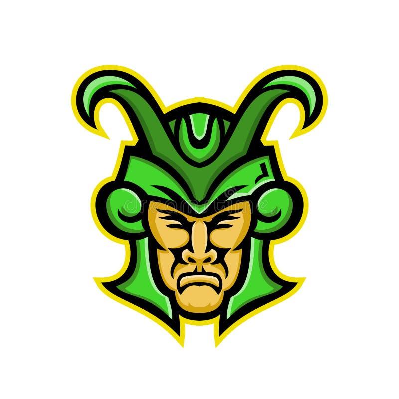 Loki Norse God Mascot ilustración del vector