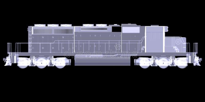 Lokomotiv. Ακτίνα X διανυσματική απεικόνιση