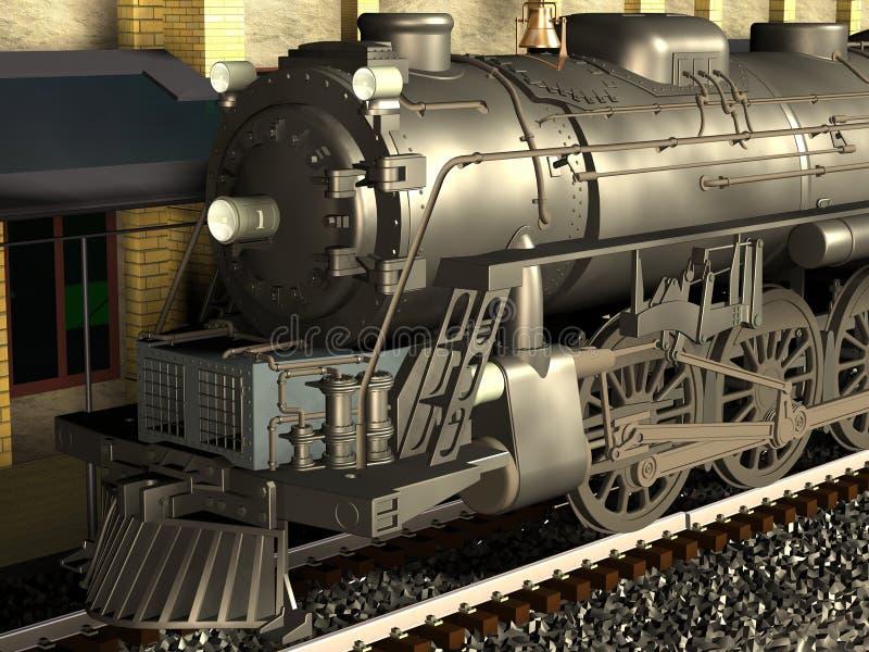 lokomotiv royaltyfri illustrationer
