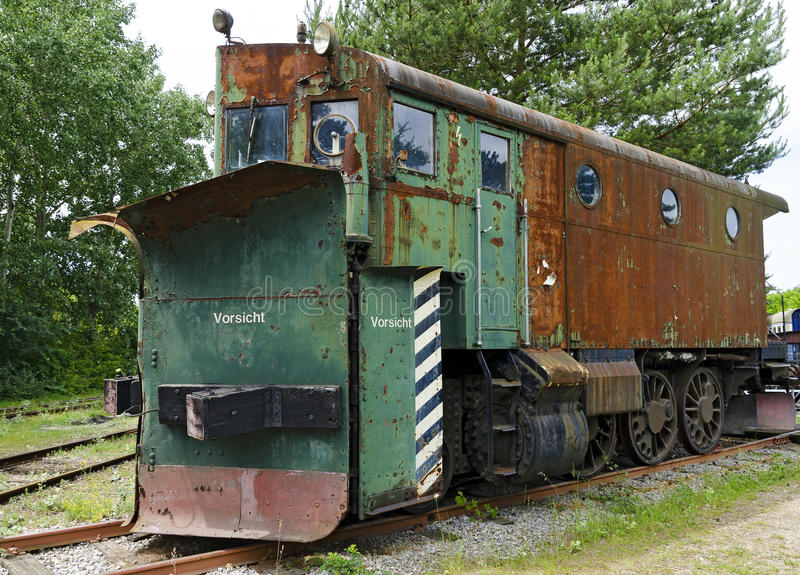 Lokomotiv för snöborttagning royaltyfria foton