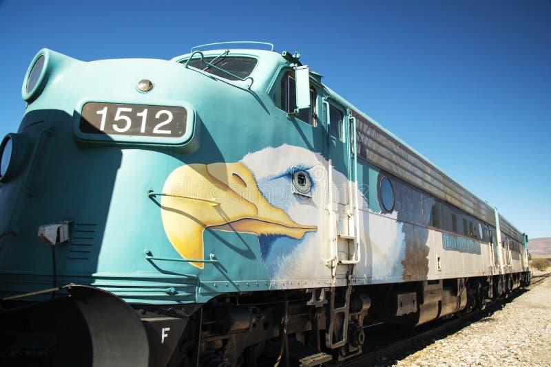 Lokomotiv för Verde kanjonjärnväg royaltyfria foton