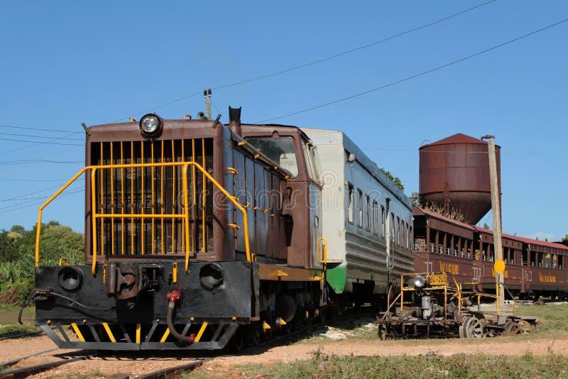 Lokomotiv i Trinidad arkivbilder