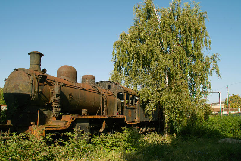 lokomotoryczna stara kontrpara obrazy stock