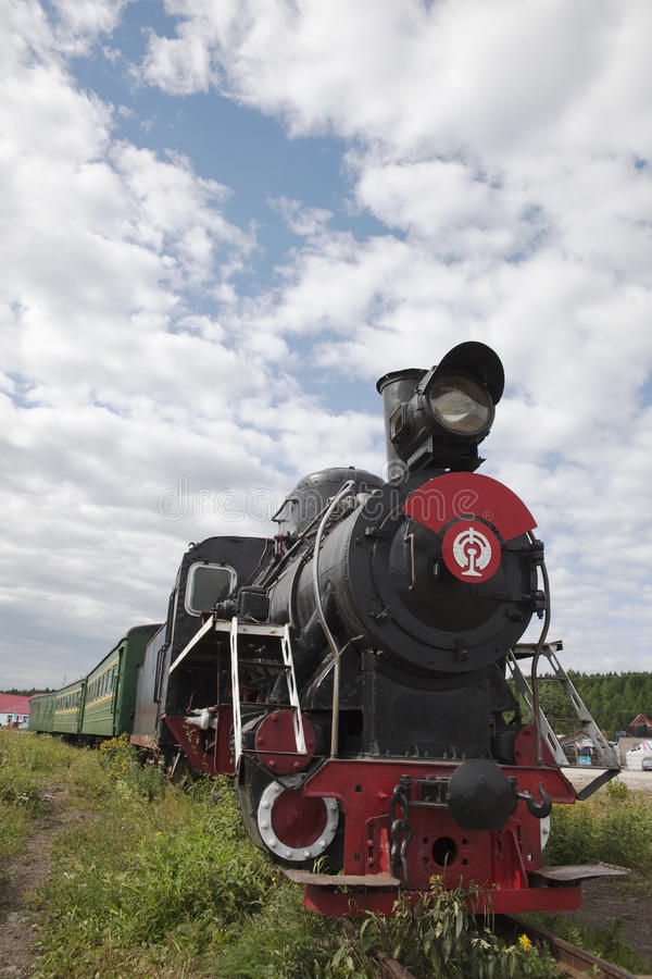 lokomotoryczny stary pociąg fotografia stock