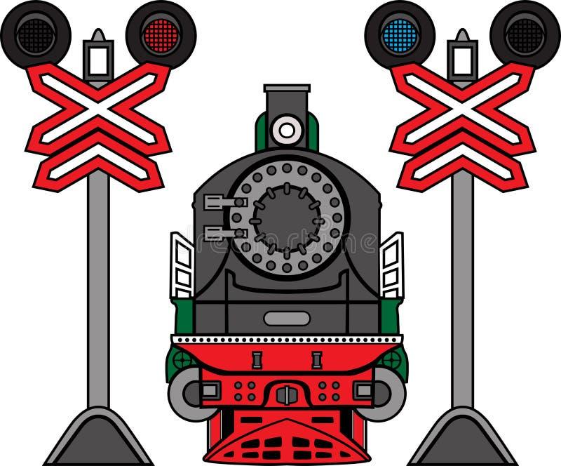 Lokomotywa i semafory zdjęcie stock
