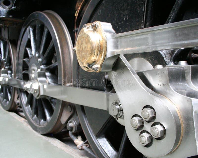 lokomotywy pary kół obraz royalty free