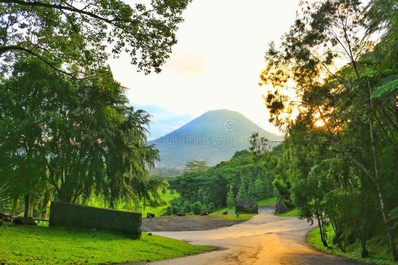 Lokon mountain stock photo