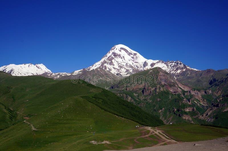 Lokout mount Kazbek stock image