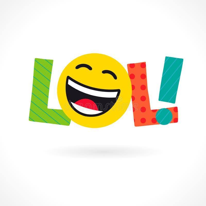 LOL! ícone ilustração stock