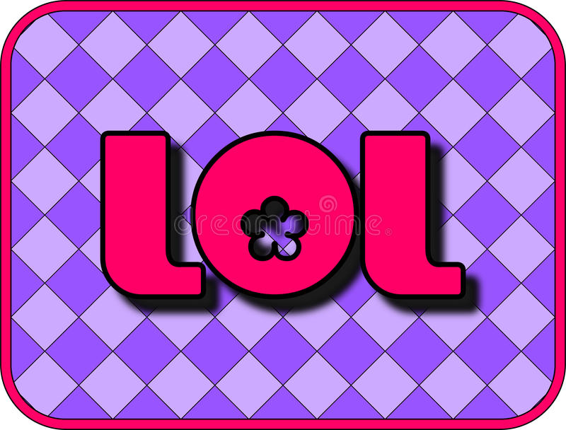 LOL. A fun icon with LOL (Laugh Out Loud vector illustration